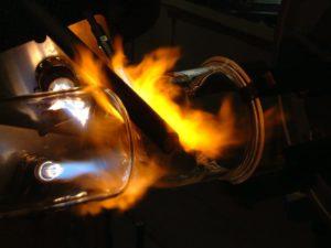 Glasstrohhalm Herstellung