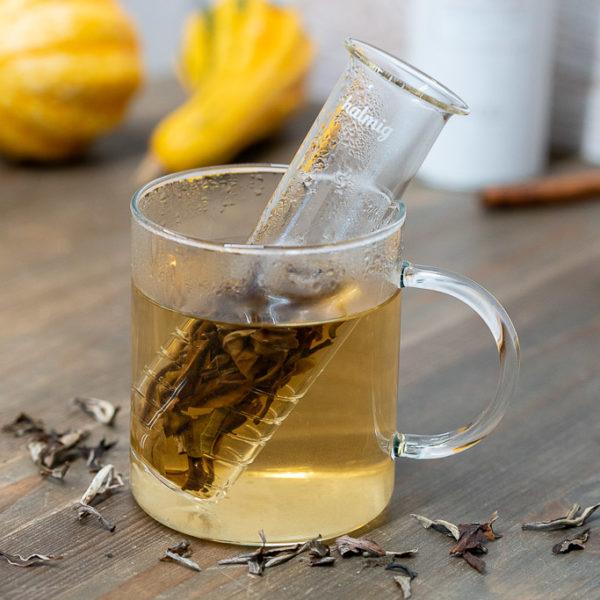 Teesieb aus Glas für Kräuter und losen Tee