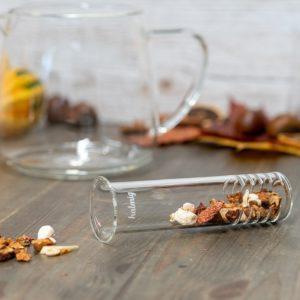 Teesieb aus Glas